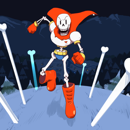 UNDERTALE-The Game wallpaper possibly with a claymore titled Papyrus