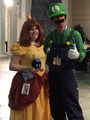 Princess Daisy and Luigi at Kawaii Kon!  - luigi photo