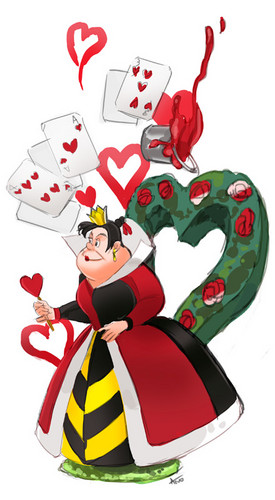 Childhood Animated Movie Villains Hintergrund titled Queen of Hearts