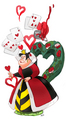 Queen of Hearts - childhood-animated-movie-villains fan art