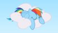Rainbow Dah cloud nappig - rainbow-dash photo