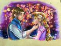 Rapunzel and Flynn - tangled fan art