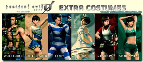 Resident Evil Hintergrund entitled Resident Evil Zero Hd Remaster Extra Costumes