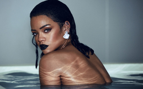 Rihanna wallpaper possibly containing a hot tub and skin titled Rihanna ANTI shell room