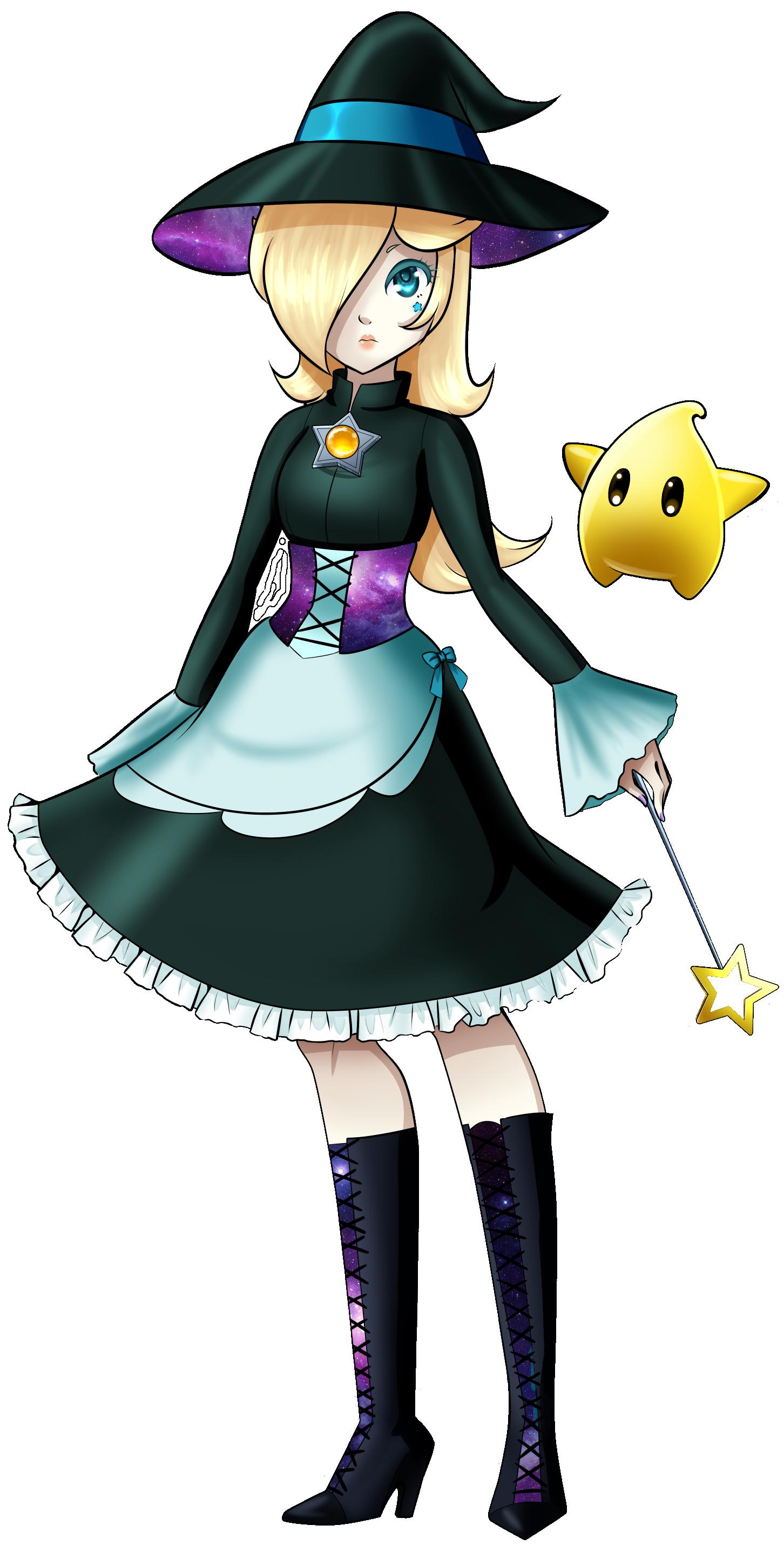 Rosalina and Luma , halloween , princess rosalina fan Art