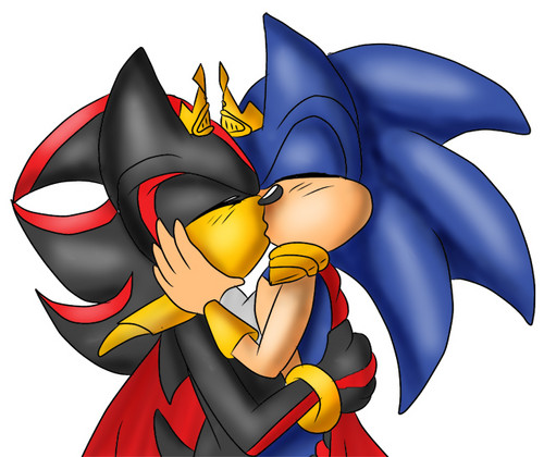 Sonadow wallpaper possibly containing anime entitled Sonadow Kiss