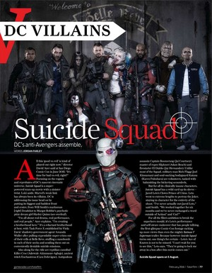 Suicide Squad in Total Film's 'DC ヒーローズ v DC Villains' Featurette - February 2016