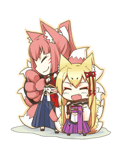 Monster Girl Quest پیپر وال with عملی حکمت called Tamamo and Yao