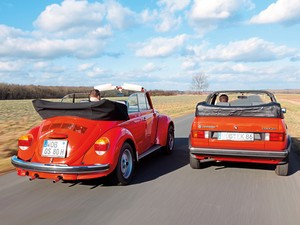 VW 1303 Cab. and Golf Mk1 GL Cabrio.