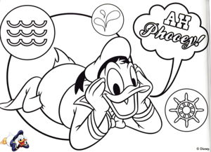 Walt disney Coloring Pages - Donald pato