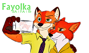 Walt Disney Fan Art - Nick Wilde & Robin Hood
