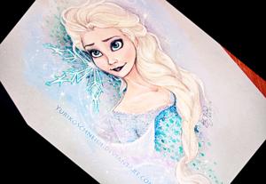 Walt disney fan Art - queen Elsa