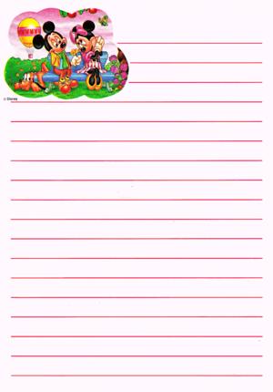 Walt Disney images - Pluto, Mickey souris & Minnie souris