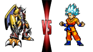 War Greymon vs Goku