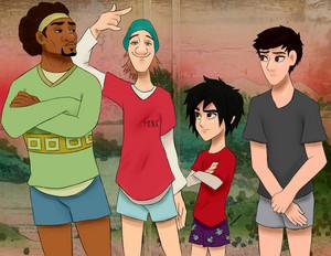 Wasabi, Fred, Hiro and Tadashi