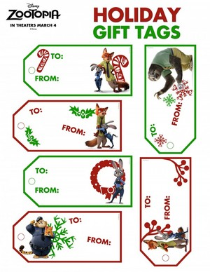 Zootopia Holiday Activity Sheets