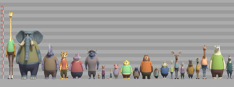 Zootopia character design and develpoment