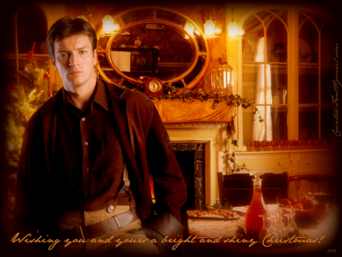 Nathan Fillion 壁纸 probably containing a brasserie, a drawing room, and a 街, 街道 entitled a bright and shiny Christmas!