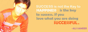 ali sameer quote about successs