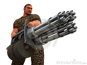 cigar smoking gi very big gun