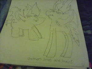 demon Snips Snails ponified