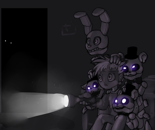 Five Nights at Freddy's (Пять ночей с Фредди) Обои titled fnaf 4 by yugisr d91abkg