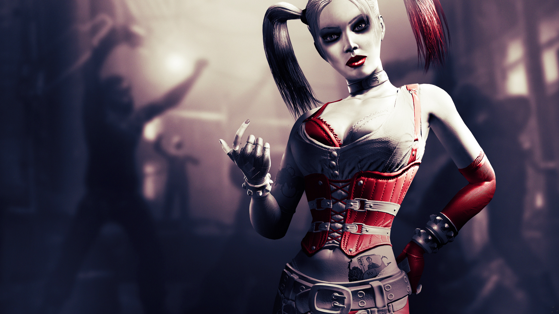 games drawing art harley quinn Batman background