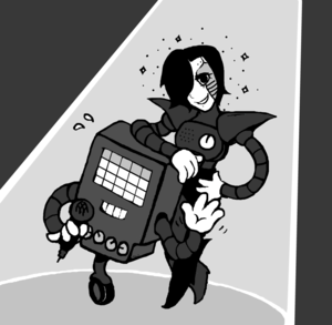 mettaton from undertale দ্বারা mirandamaija d9a8y8c