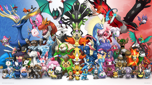 pokemon wallpaper probably with anime entitled pokemon x and y (kalos)