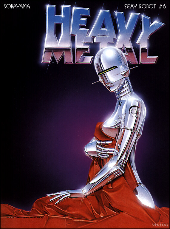 sexy robot heavy metal