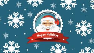 smiling santa clause
