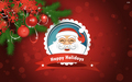 smiling santa clause - christmas wallpaper
