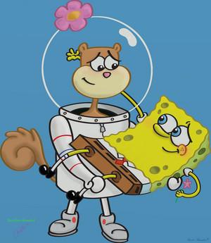 spongebob and sandy par frankyounghacker d348ry0