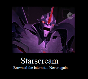 starscream hates the internet