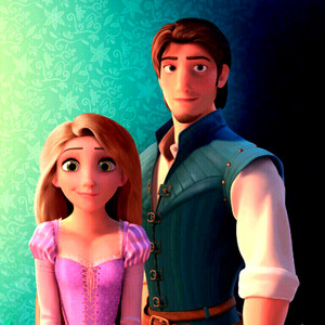Walt Disney Fan Art - Princess Rapunzel & Flynn Rider