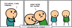 Randomly Generated Cynide and Happiness Comics