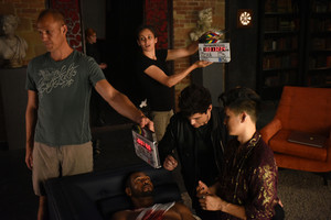 'Shadowhunters' 1x06 Of Men and Ангелы (behind the scenes)
