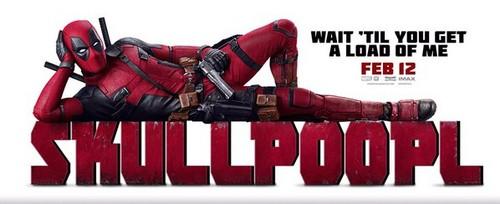 Deadpool (2016) fondo de pantalla entitled 'Skull Poop L' Poster