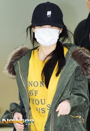 160124 IU at Gimpo Airport Back from Japan