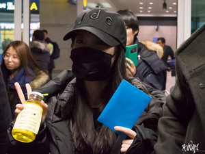160203 IU Arriving Incheon Airport back from Hunan