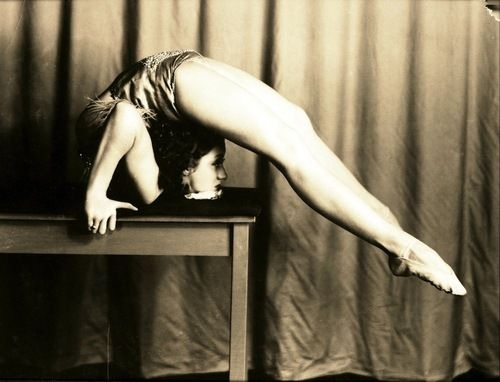 Contortion wallpaper entitled 1950's contortionist