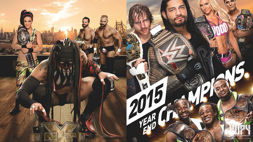 WWE kertas dinding titled 2015 End of the tahun Champions