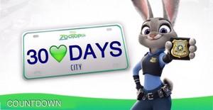 30 days until Zootopia
