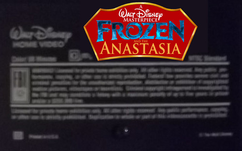 Disney achtergrond titled A Walt Disney Masterpiece Frozen And The Anastasia VHS Black