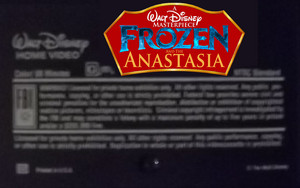A Walt Disney Masterpiece Frozen And The Anastasia VHS Black