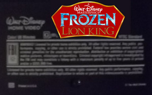 A Walt ディズニー Masterpiece アナと雪の女王 And The Lion King (1999) VHS Black