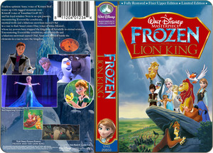 A Walt disney Masterpiece Frozen - Uma Aventura Congelante And The Lion King (1999) VHS