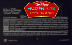 A Walt ডিজনি Masterpiece ফ্রোজেন Fever Adventures Of Little Einsteins The Movie (1999) VHS Black