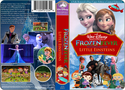 Disney wallpaper containing anime called A Walt Disney Masterpiece Frozen Fever Adventures Of Little Einsteins The Movie (1999) VHS Black