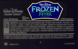 A Walt disney Masterpiece Frozen - Uma Aventura Congelante Fever The Movie (1998) VHS Black